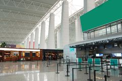 The hall in airport Stock Image