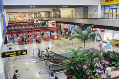Hall airport Don Muang DMK, Bangkok. Thailand royalty free stock photo