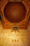 Hall of Ambassadors, Alcazar Royal in Seville, Andalusia, Spain. Mudejar architecture, Hall of Ambassadors named Salon de Embajadores, inside of the Alcazar in Stock Images