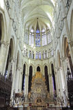 Hall of Amiens Cathedral, France Royalty Free Stock Photos