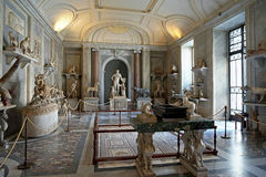 The Hall of Animals at the Vatican Museums royalty free stock photos