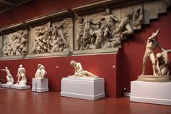 Hall with antique statues. Royalty Free Stock Images