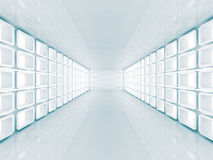 Hall Architecture Background futurista abstrato Foto de Stock Royalty Free