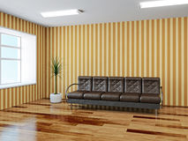 The hall with sofa Stock Images