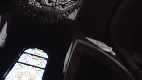 Hall in the Armenian Church. Day stock video footage