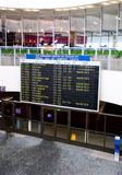 Hall of arrival of the airport. Of Pulkovo-1 to St.-Petersburg stock photo