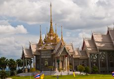 Hall of Arts in Thai temples. Stock Photos