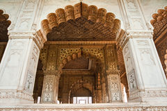 Hall of audience, Red Fort, Old Delhi, India. Stock Photography