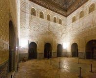 Hall av ambassadörerna - Alhambra granada spain Arkivbild