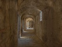 Hall av amfiteatern av den romerska staden av den Ità ¡ licaen royaltyfri fotografi