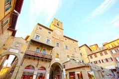 Hall av Cortona, Arezzo, Tuscany fotografering för bildbyråer