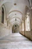Hall av den dominikanska kloster i Dubrovnik Royaltyfri Bild