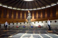 Hall av militär härlighet Minnes- komplexa Mamayev Kurgan i Volgograd Royaltyfria Foton