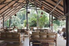 Hall av Safari Camp Uganda Arkivbild