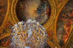 Hall av speglar stora Galerie Versailles Royaltyfri Bild