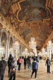 Hall av speglar, Versailles chateau, Paris, Frankrike Royaltyfri Foto