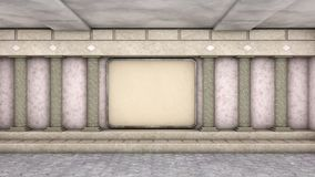 Hall avec des colonnes Photographie stock libre de droits