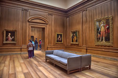 Hall avec des oeuvres d'art, sculpture, galerie d'art nationale Washington Images stock