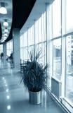 Hall avec les hublots en verre Image libre de droits