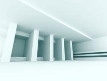 Hall Background vacío interior blanco abstracto Imágenes de archivo libres de regalías