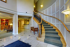 Hall with beautiful staircase and columns Royalty Free Stock Photography