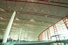 Hall of beijing airport station royalty free stock image