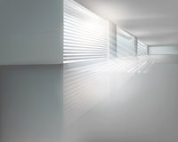 Hall with blinds. Vector illustration. Royalty Free Stock Images