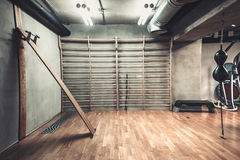 Hall for boxing in gym Royalty Free Stock Photo