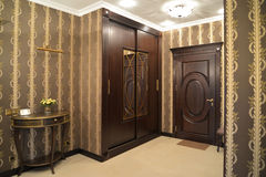 Hall in brown tones, modern classics Royalty Free Stock Images