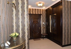 Hall in brown tones, modern classics Stock Photos