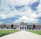 Hall building in college Royalty Free Stock Images