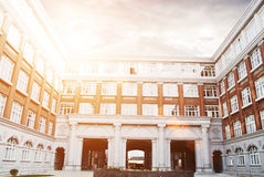 Hall building in college Royalty Free Stock Photography
