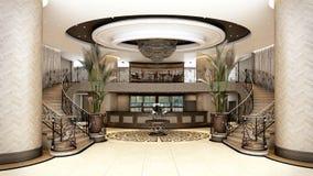 Hall Building Porto Vita Miami-de Bouw vector illustratie