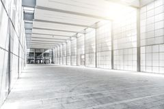 Hall of business building with light from window royalty free stock images