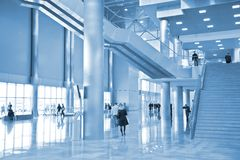 Hall of business center Royalty Free Stock Photo