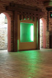 Hall in cafe with green niche Royalty Free Stock Images