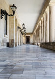 Hall in the castle, the town of Corfu, Greece Royalty Free Stock Images