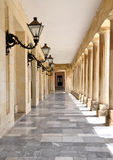 Hall in the castle, the town of Corfu, Greece, Europe Royalty Free Stock Photos