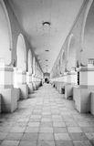Hall cathedral in black and white Royalty Free Stock Photography