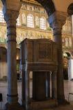 Hall Catherdal Sant Apollinare Nuovo w Ravenna Obrazy Stock