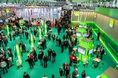 Hall 2 at CeBIT information technology trade show Royalty Free Stock Images