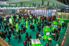 Hall 2 at CeBIT information technology trade show Royalty Free Stock Photography