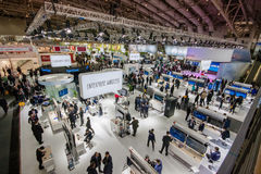 Hall 2 at CeBIT information technology trade show Stock Photo