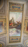 Hall Ceiling Painted in Vatican. Painted ceiling of the Vatican Museum in Rome Royalty Free Stock Photos