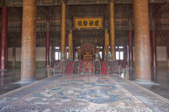 The Hall of Central Harmony in The Forbidden City Stock Photography