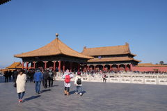 Hall of Central Harmony Zhonghedian in the Forbidden City, Beijing Stock Photography