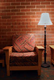 Hall Chair. An empty lounge chair sits waiting for somebody Royalty Free Stock Photography