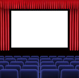 Hall of cinema. Illustration of Hall of cinema Royalty Free Stock Photos