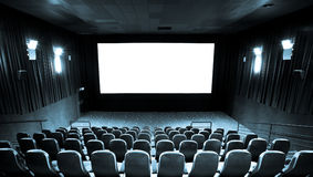 Hall of cinema Stock Image