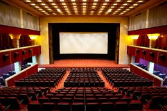 Hall of a cinema Stock Photos